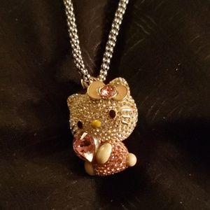 """Custom 24"""" Necklace w Swarovski jewel Hello Kitty"""